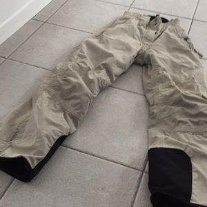 Rossignol ski snow snowboard pants beige XS